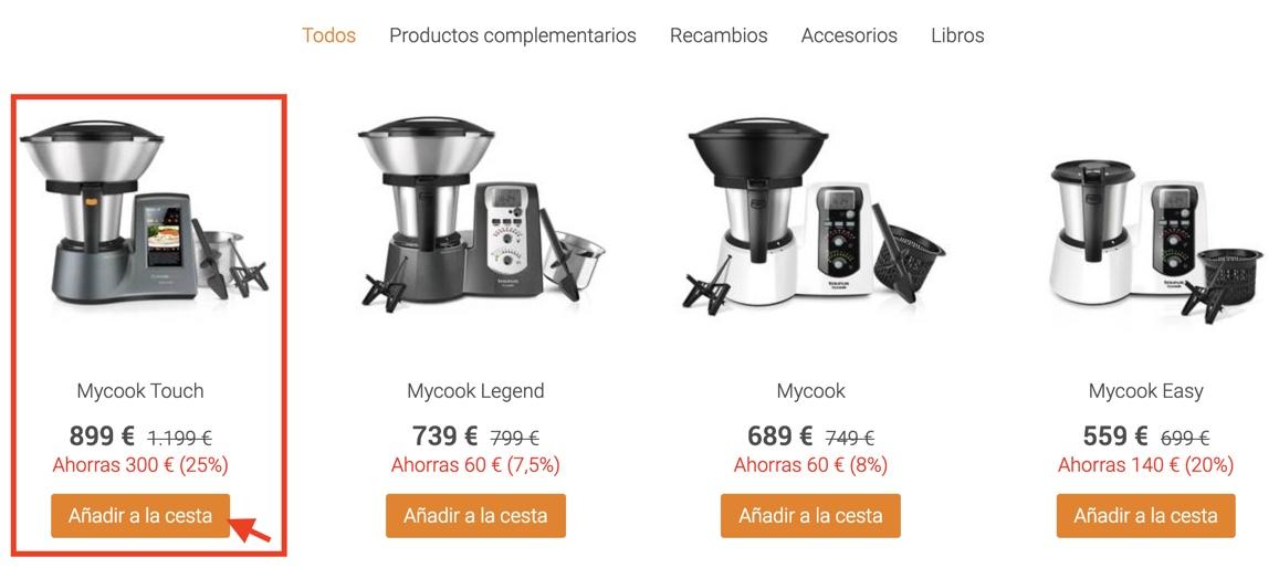 Código Promocional Mycook Touch 500 Descuento 2021 Taurus