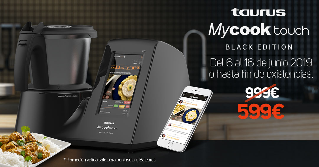 oferta descuento mycook touch black edition 2019
